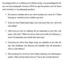 Pedagogisk grundsyn enligt Stensmo (1994) http://www.tema.liu.se/tema-t/tol/publikationer/1.72851/jansson_t_2005_pedagogiska_paradigm.pdf