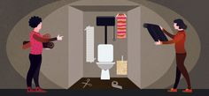 A small room makes it big - design wallpapers for toilets/powder rooms