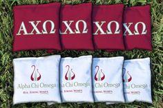 Alpha Chi Omega Cornhole Bag Logo Set