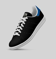 Adidas Stan Smith Leather (Black/White/Clear Onix/Bluebird)