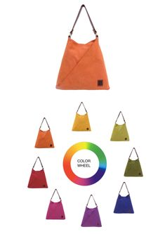 TATYZ Women Cotton and Genuine Leather Triangular Single Handle Summer Hobo Tote Bag (Yellow/Orange/Blue/Teal/Violet/Lemongrass/Red/Purple) Cool Summer Palette, Summer Colors, Red Purple, Teal, Summer Handbags, How To Make Handbags, Leather Handle, Leather Craft, Craft Supplies