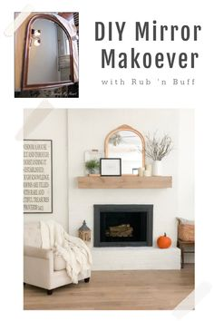 DIY Thrift Store Mirror Makeover (with rub 'n buff) #diy #makeover #thriftstorefind