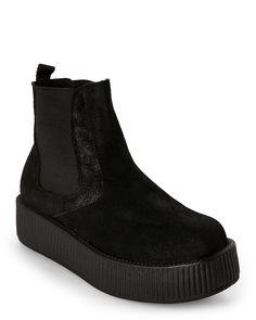 T.U.K Black Mondo Chelsea Creeper Boots