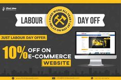 😃FIWD has announced its labour day👷‍♀️ sale to keep its customer updated with new trends in business. 👉Get 🔟% OFF on eCommerce website. 😉Don't miss a chance of your business transformation. Price Plan, Website Services, Labour Day, Web Development Company, Motivate Yourself, Ecommerce, Online Business, Digital Marketing, Web Design
