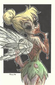 DISNEY ZOMBIE MASTERWORKS - TINKERBELL by leagueof1.deviantart.com on @DeviantArt