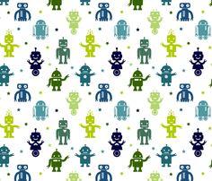 Automated Cuteness fabric by jenimp on Spoonflower - custom fabric