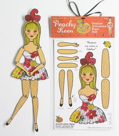 Dancing Paper Doll Kit  Adeline by sdworkshop on Etsy, $8.00