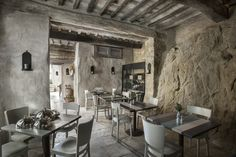 Monteverdi hotel and villas to rent in Tuscany. Beautiful place in a restored medieval village. Oreade, the fine dining restaurant.