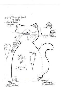 Patron-Cat applique pattern