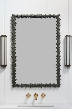 Branch Mirror - Bronze Green | Studio HÁM Interior Detailing, Vanity Units, Chest Of Drawers, Bathrooms, England, Bronze, Mirror, Studio, Antiques
