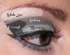 Dramatic eye makeup tutorial (black and silver smokey eye)