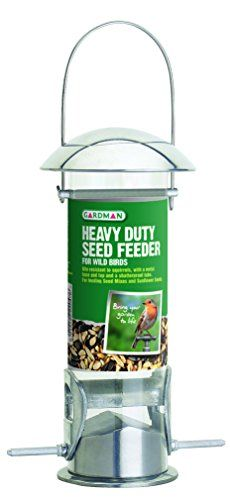 Gardman Wild Bird Heavy Duty Seed Feeder Comprehensive range of contemporary designed tubular squirrel resistant feeders Robust construction using die-cast alloy stainless steel and polycarbonate Easy to fill an (Barcode EAN = 5012122220476) http://www.comparestoreprices.co.uk/december-2016-4/gardman-wild-bird-heavy-duty-seed-feeder.asp