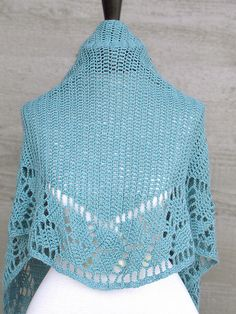 Ravelry: Spring Leaf Shawlette pattern by Karen Ratto-Whooley. Pattern for sale