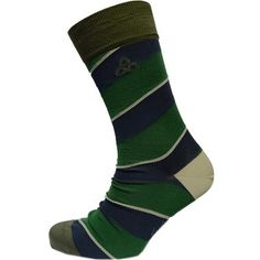 Great Irish socks with broad stripes and an embroidered Trinity Knot! The calf length socks are perfect for the office or a night out! The striped socks are crafted from 30% polyamide and 70% luxury cotton for a soft appearance and texture as well as comfort! The socks are suitable for sizes 9 through 11. These Irish socks are made by Patrick Francis located in Co. Dublin, Ireland