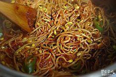 Korean Food, Japchae, Cabbage, Spaghetti, Beef, Vegetables, Ethnic Recipes, Salt, Meat