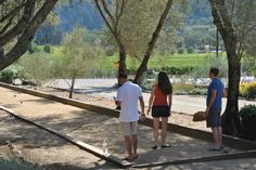 Bocce  Ball after in St. Helena, CA