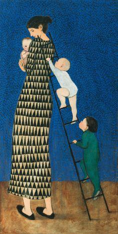 Climbing Mother by Brian Kershisnik (Giclee Print) | Artful Home