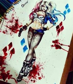 Harley Quinn Drawing art