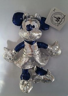 "Disneyland 60th Diamond Anniversary Minnie Mouse Sequin 9"" Plush In Stock! New!"