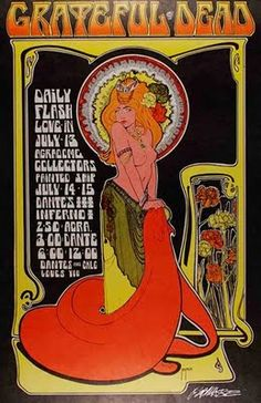 Classic rock psychedelic poster - Grateful Dead.