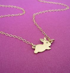 monsieur bunny necklace by cravejewelrydesign on Etsy, $24.00