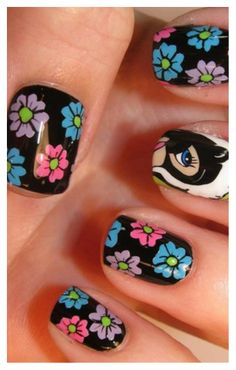 10 amazing hand painted nail art designs painted nail art 10 amazing hand painted nail art designs prinsesfo Choice Image