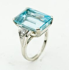 Win Fabulous Fine Jewelry Gifts at Auction: AQUAMARINE RING Jewelry Gifts, Fine Jewelry, Aquamarine Jewelry, Birthstones, Antique Jewelry, Auction, Gems, Engagement Rings, Antiques