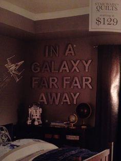 Star Wars room. Pottery barn kids.