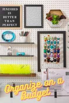 Is your sewing room bursting at the seams? Head over to the Missouri Star Blog for helpful tips to organize your sewing room on a budget! Follow the link below to the Missouri Star Blog to read more! #MissouriStarQuiltCo #MSQC #MissouriStarBlog #OrganizationHacks #SewingRoomOrganization