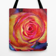 Openwork rose(3). Tote Bag by Mary Berg - $22.00 #totebags #society6 #rose #yellow #pink #red #women