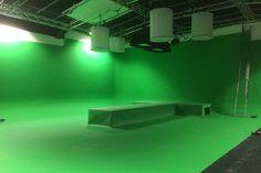 Studio 1 Green Screen Film Studio with catwalk Screen Film, Chroma Key, Film Studio, Writing Inspiration, Art Studios, Filmmaking, Storytelling, Catwalk, London