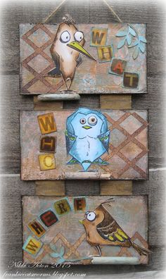 Addicted to Art: Bird Crazy is here! using Tim Holtz, Ranger, Sizzix and Stamper's Anonymous products; Feb 2015