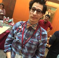 Dr. Wolf loves his custom bow tie made by #BODYDECOR! I make sure he is styling and profiling before seeing his awesome patients at #St.Jude! Thanks Doc!
