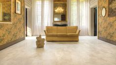 A Rich Gold Tone Living Room Balanced With Our W Age Series Tiles In Marrow