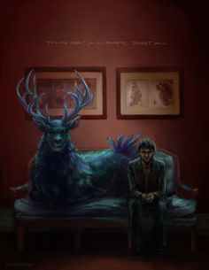 fever dream by gunmettle. This artist has AWESOME fan art for Hannibal. Check out the gallery.