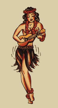 Hawaiian Girl - Sailor Jerry