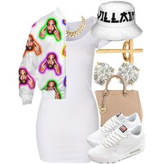 A fashion look from October 2014 featuring VILA tunics, NIKE shoes and MICHAEL Michael Kors handbags. Browse and shop related looks.