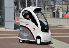 This Tiny Hitachi Ropits Drives Itself Anese Robot Microcar Smart Car
