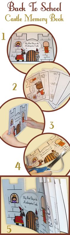Back to school - Castle shaped 1st Day booklet! $