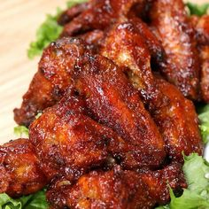 Get The Party Started With These Flavorful Honey BBQ Wings. I think I would swap the honey for some sriracha