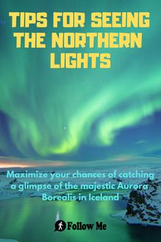 Maximize your chances of catching a glimpse of the majestic Aurora Borealis in Iceland. Northern Lights Iceland, See The Northern Lights, Packing List For Travel, Travel Tips, Travel Ideas, Places To Stay In Ireland, Wow Travel, Budget Help, Best Pubs