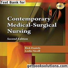 Test Bank for Contemporary Medical Surgical Nursing 2nd Edition by Daniels download,0840023367,9780840023360,instant download pdf