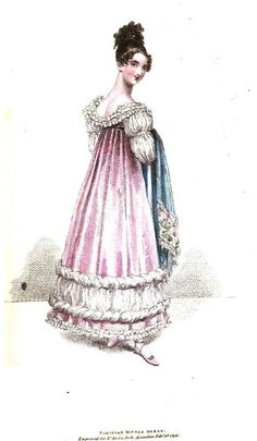 La Belle Assemblee, February 1816. Look at those puffy sleeves!