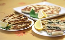 Gozleme Recipe - I prefer Spinach and Feta, the husband prefers the lamb mince -- best of both worlds in one easy recipe!  Kids love it too! I like to serve the lamb with a homemade tzatziki (Greek Yogurt base)