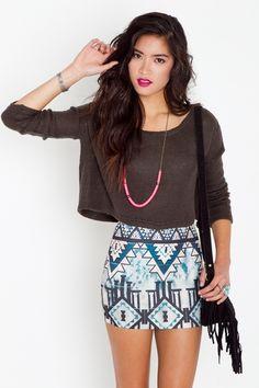 Aztec Pyramid Skirt    $38.00