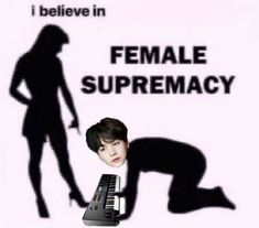 """the f in feminism stands for ft SUGA� Images Of Bts, Funny Images, Female Supremacy, Memes, Feminism, Twitter Sign Up, Believe, Kpop, Shit Happens"