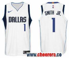 168a22c3dac Men's Nike NBA Dallas Mavericks #1 Smith Jr. Jersey 2017-18 New Season White  Jersey