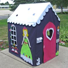 Palatial Playhouse, Fits Large PVC Frame Frame You Build, Custom Order, Other Styles Also Available