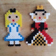 Alice & Queen of Hearts perler beads by candiekane8