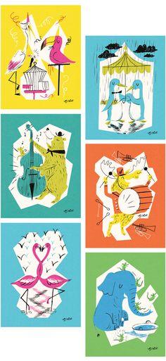 *NEW* LAGOM greeting cards - NICHOLAS JOHN FRITH : Illustration